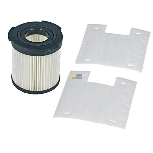 Electrolux AEG 900196614 9001966143 ORIGINAL Abluftfilter Filterzylinder Hepa Lamellenfilter + 2x Mikrofilter Menalux F100 z.T. VIVA SPIN Staubsauger Cyclone auch Tornado Miostar (Electrolux Abluftfilter)