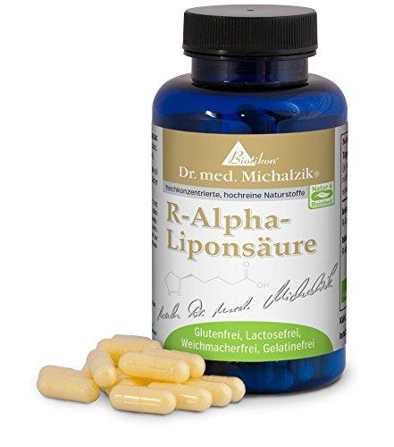 600 Mg 200 Kapseln (R-Alpha-Liponsäure nach Dr. med. Michalzik, wichtige körpereigene Substanz, 200 mg reine R-Alpha-Liponsäure je Kapsel - ohne Zusatzstoffe, 120 vegane Kapseln)
