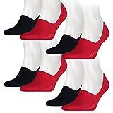 Levis Unisex Sneaker 168SF Low Rise 4er Pack, Größe:43-46, Farbe:Red/Blue (505)