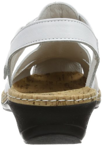 Sandalen Biskuit Keilabsatz Weiß 720079 weiß Slingback Damen Mit Comfortabel UWwgqTpt