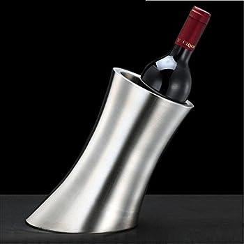 Chsukho Stainless Steel Ice Bucket Oblique Horn Ice Bucket Wine Ice Bucket Double-wall Champagne Ice Bucket 0