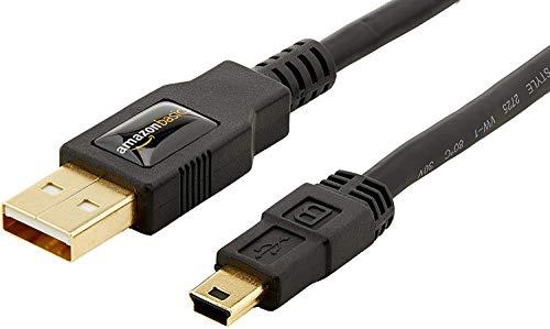 AmazonBasics 7GUK USB 2.0 A-Stecker auf Mini-B-Stecker (1,8 m),Schwarz