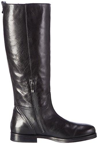 Alberto Fermani Damen Fashion Shoes Women Biker Boots Schwarz (Bufalo lux Nero-green gable)