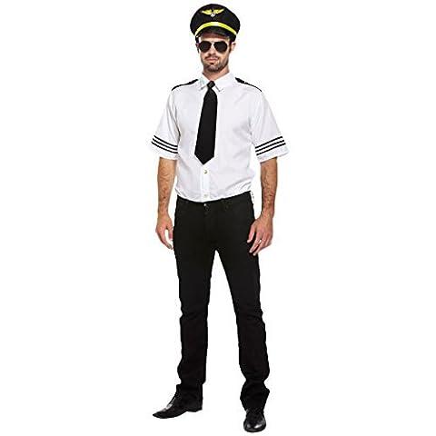 Airline Pilot Costume De Déguisement - D/UP ADULT AIRLINE PILOT