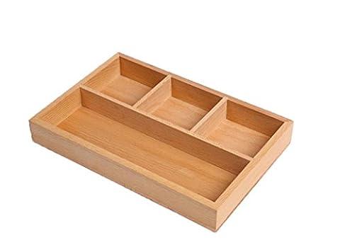 GAO® Obstteller Continental Buchenholz Getrocknete Früchte Aufbewahrungsbox Massivholz Sub-Netz Lagerung Finish Box , 30*20*4