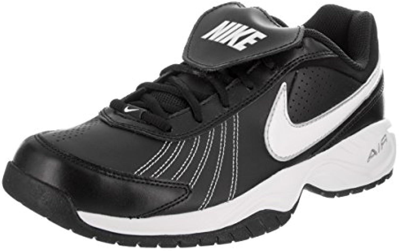 Nike Men's Air Diamond Trainer negro / blanco / metalizado / plata Baseball Base 13 hombres EE. UU.