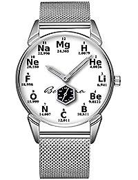 Mode Impermeable Reloj Minimalista Personalidad patrón Reloj de 640. periódicas Mesa Química de Elementos may28th