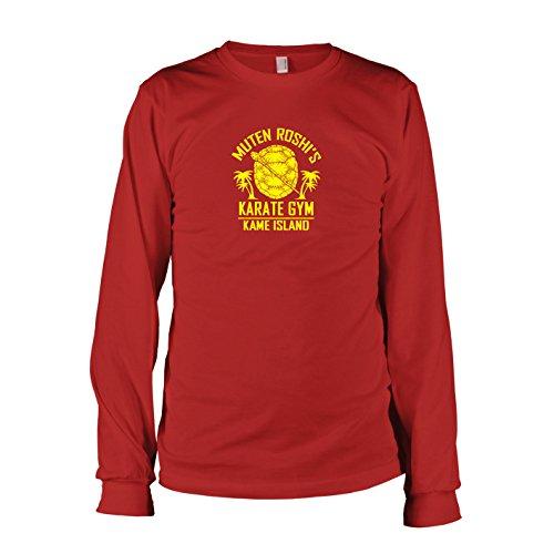 TEXLAB - DBZ: Karate Gym Kame Island - Langarm T-Shirt, Herren, Größe XXL, rot