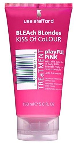 Lee Stafford Bleach Blondes Kiss of Colour Pink Treatment, Non-Permanent Colour Hair Treatment 150ml