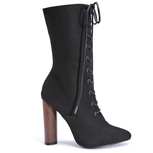 Shoesdays, Damen Stiefel & Stiefeletten  schwarz schwarz Schwarz