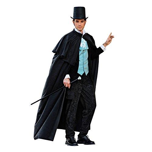 Andrea Moden Englischer Gentleman Umhang Historisches Kostüm Zubehör Herren 19.Jhd. schwarz - XL