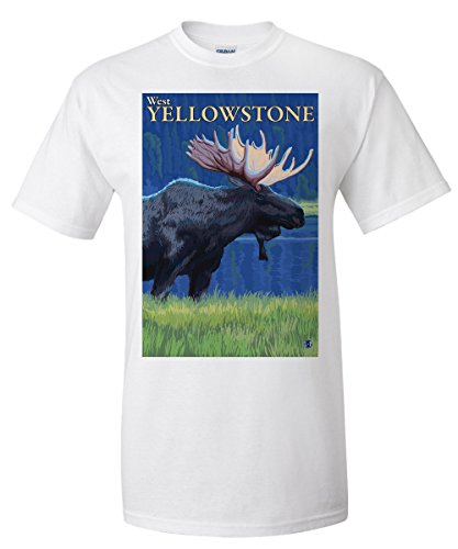 moose-at-night-west-yellowstone-montana-premium-t-shirt