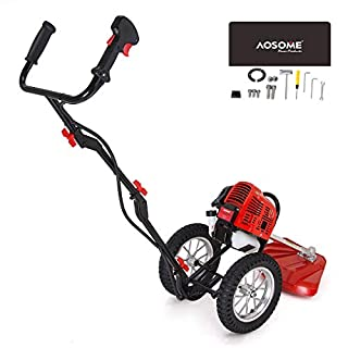 AOSOME ASWBC520 2 Stroke 52cc Petrol Wheeled Grass Trimmer,Garden brush cutter, 1.4kw