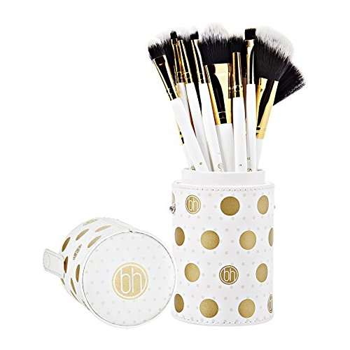 Dot Collection - 11-teiliges Pinselset Weiß von BH Cosmetics