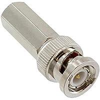 ZYCX123 Adaptador coaxial BNC torcedura Conector coaxial coaxil Conector sólido RG59 Conector de Empalme Largo cañón