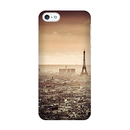 iPhone 4/4S Coque photo - Vue d'ensemble de Paris Retro
