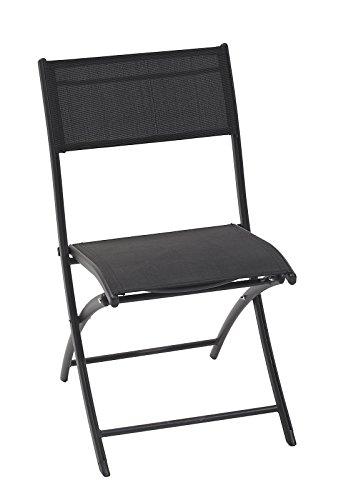 DCB GARDEN Chaise Pliante Noir 46 x 40 x 82 cm C43-NTN