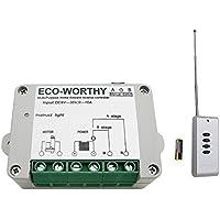 ECO-WORTHY - Telecomando wireless per motori, attuatore lineare, DC, 12V, 24V, inversione positiva