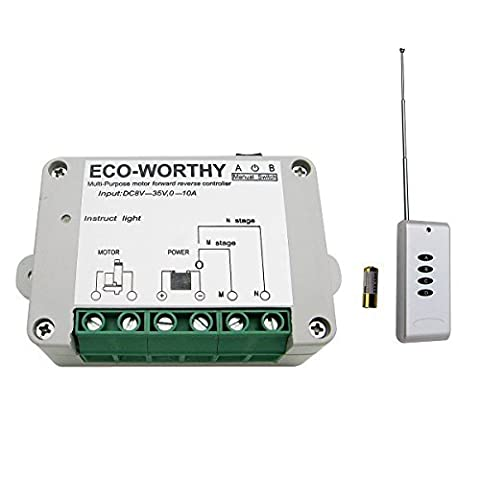 ECO-WORTHY DC 12V 24V Wireless Positive Inversion Remote Control for