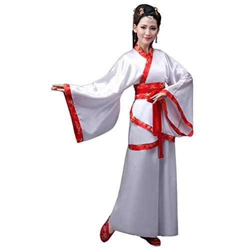Deylaying Traditionell Chinesisch Uralt Hanfu - Elegant Retro Tang Anzug Kostüm Stufe Kleid für Damen -