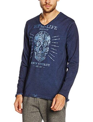 HOPE'N LIFE Herren T-Shirt Kaboul Blau - Blau (Marineblau)