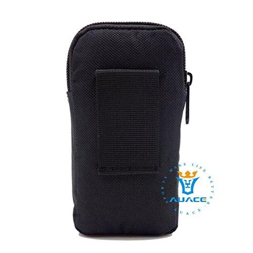 Multifunktions Survival Gear Tactical Beutel MOLLE Tasche zwei Schichten Military Handy Tasche, Outdoor Camping Tragbare Travel Bags Handtaschen Werkzeug Taschen Taille Tasche Handytasche BK