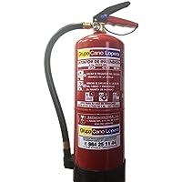Extintor polvo ABC 6 Kg. EFICACIA 27A/183B, incluye soporte de pared. cumple normativa RIPCI/CTE/NBE