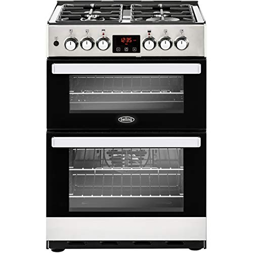 Belling Cookcentre 60DF Dual Fuel Cooker - Stainless Steel