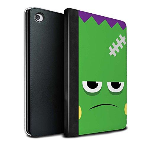 Stuff4® PU-Leder Hülle/Case/Brieftasche für Apple iPad Mini 4 Tablet/Frankenstein Muster/Halloween Zeichen Kollektion