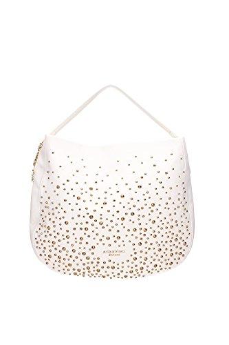 SCERVINO Medium Flat Hobo Bag STEPHANIE White