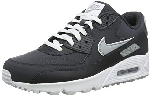 Nike air max 90 essential, scarpe running uomo, (anthracite/wolf grey/white 005), 42 eu
