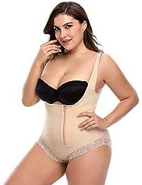 35b98ced5c6 LaLaAreal Women Slimming Body Shaper Open Bust Bodysuit Firm Control  Shapewear Underwear Briefer Seamless Zipper