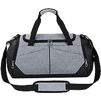 a8354fef897ec BORKE Umhängetasche Damen Einfach Classic Mode Sporttasche Ausflug  Handgepäck Wasserdicht Duffle Bag Herren Business Travel Handtasche