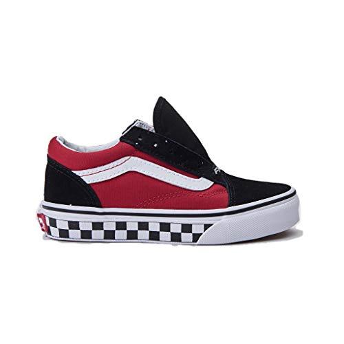 Vans Scarpe Junior Sneakers Basse VN0A38HBVI71 Old Skool Taglia 34 Nero-Rosso