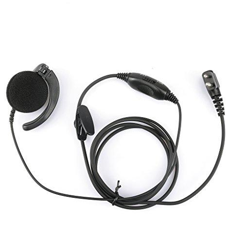Kongnijiwa Radio A8 für Motorola PMLN4443AB Mag One Ear Empfänger mit In-Line Mikrofon und PTT w/Vox-Ohr-Haken Hörmuschel Mic (Motorola Mag One Radio)