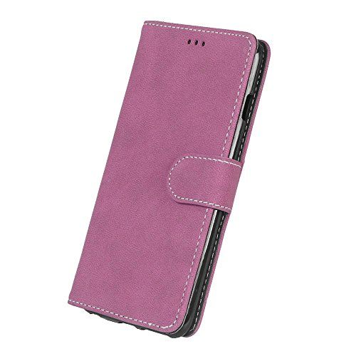iPhone Case Cover Solid Color Premium PU-Leder Tasche Cover matt Retro Flip-Ständer Case Wallet Fall mit Kartensteckplätze Foto Frames für Apple IPhone 6 6s Plus ( Color : 1 , Size : Apple IPhone 6 6s 2