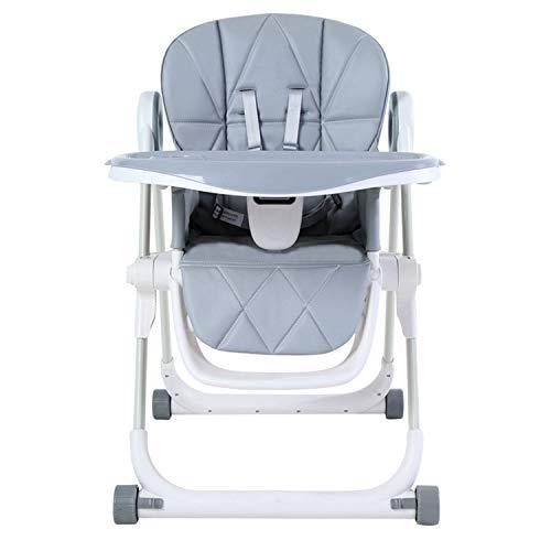Baby-Dining Chair, Hohe Dining Chair, Faltbar Baby-Haus Tisch Und Stuhl, Sitzen, Liegen, Essen, Spiele, Bewegen Esstisch, Sicher Und Stabil, Platz Sparen,Grau -