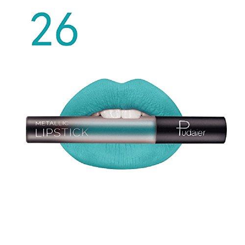 Brillant à lèvres, GreatestPAK Maquillage de maquillage de cosmétiques liquide mat imperméable de rouge à lèvres de longue durée