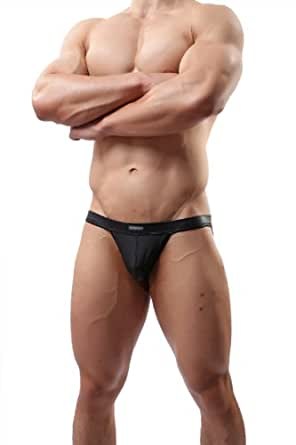 Wowhomme Sexy Lingerie G-string&thongs Underwear Faux Leather Jockstrap Briefs#c37 (L)