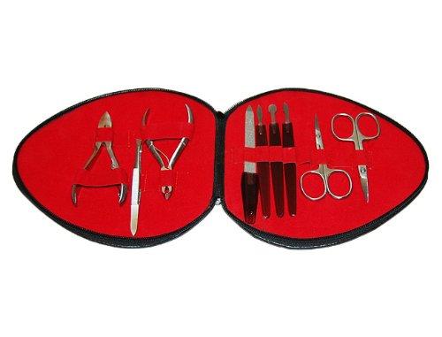 Preisvergleich Produktbild Queen Style Nagelpflege- / Maniküre-Set in Herzform-Etui , 9-teilig