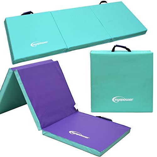 Eyepower XL Gymnastikmatte 180x60x5cm Turnmatte Sportmatte Weichbodenmatte Mint