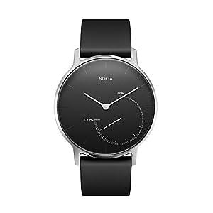 Nokia health - Montre connectée de suivi d'activité et de sommeil, noire