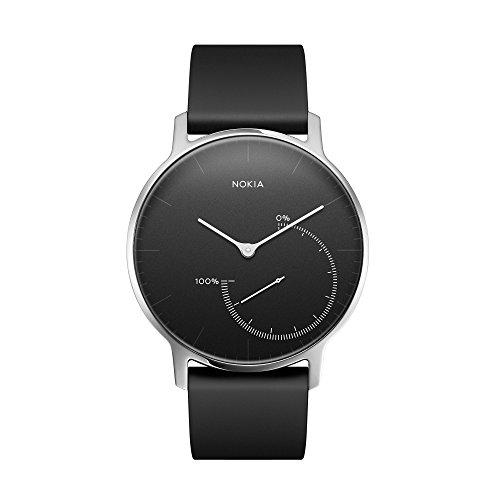 Nokia health Erwachsene Steel-Fitnessuhr Armbanduhr, Schwarz, 36 mm