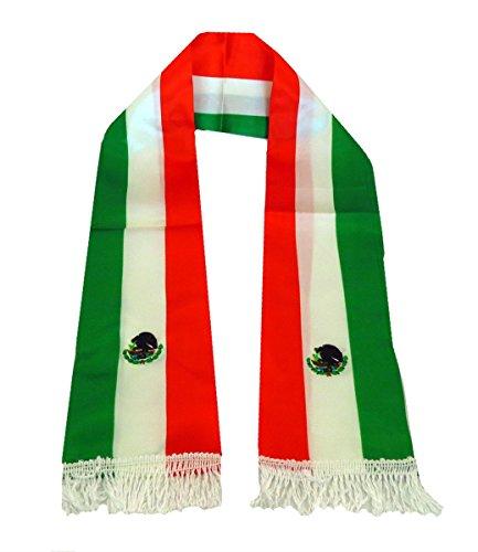 Mexiko Schal (Sonia Originelli Schal Langschal Länderschal WM EM Fußball Fan Polyester Party Farbe Mexiko)