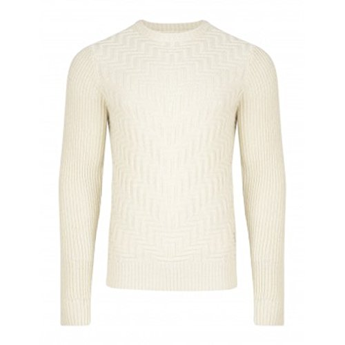 Da uomo di marca Bellfield Geysir Maglione Color Panna S-XL crema Medium