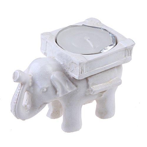 demiawaking resina marfil elefante té luz vela candelabro soporte para boda Home Party Decoration