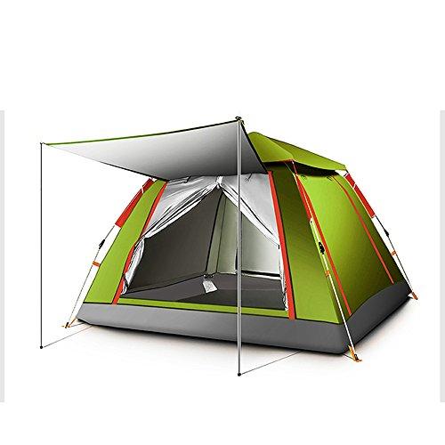 QFFL zhangpeng Zelt Automatisches Zelt Im Freien 3-4 Starkes Regendichtes Zelt Wildes Kampierendes Zelt 3 Farbe Wahlweise Freigestellt 215 * 215 * 142cm Tunnelzelte (Farbe : Armeegrün)