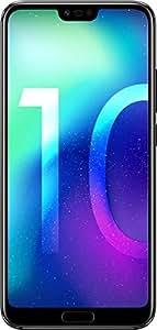 """Honor 10 Smartphone, Nero, 4G LTE, 128GB di memoria, 4GB RAM, Display 5.8"""" FHD+, Doppia Fotocamera 24+16MP [Italia]"""