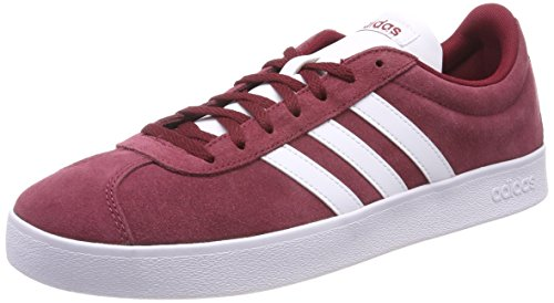 adidas VL Court 2.0, Zapatillas para Hombre, Multicolor (Collegiate Burgundy/FTWR White/Core Black), 40 EU