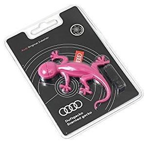 Audi 000087009AC Duftspender Original Duftgecko pink Gecko Lufterfrischer (Duftnote: blumig-süß)